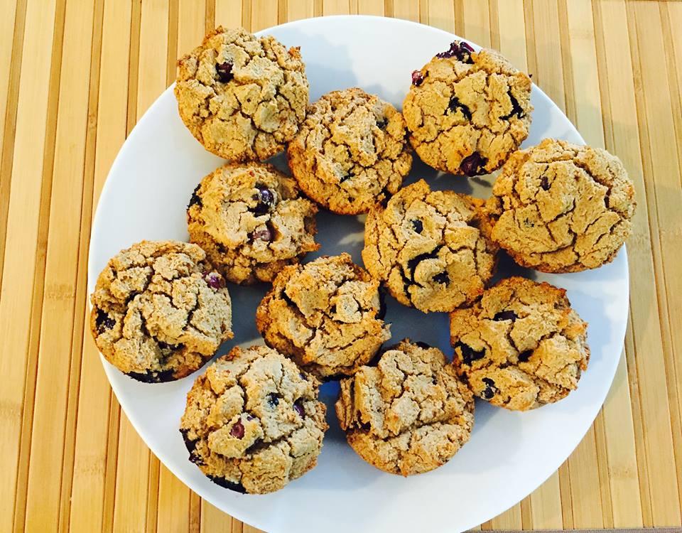 Dr. Gurm's Organic Gluten-free, Vegan Blueberry Muffins
